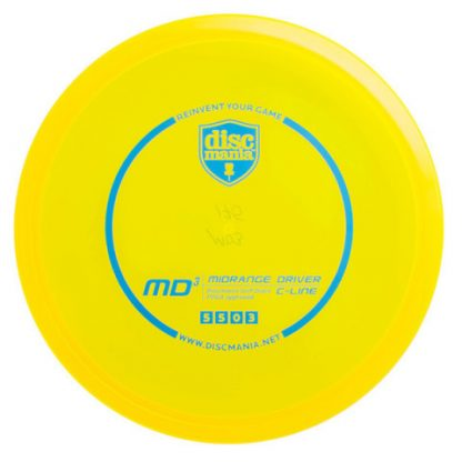 Discmania C-Line MD3 yellow with blue stamp