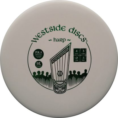 Westside Discs Harp White BT Hard with Green stamp