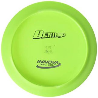 Innova Star Destroyer, green with silver bottom stamp.