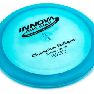 Innova Valkyrie in blue champion plastic with black stamps.