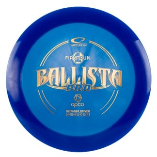 Latitude 64 Ballista Pro in blue with a gold stamp.