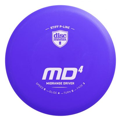 Discmania Stiff P line MD4 in blue with white stamp.