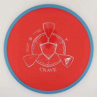 Axiom Neutron Crave red core with blue rim and white stamp