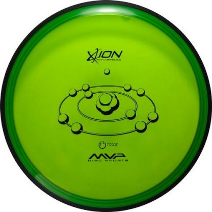 MVP Ion in green proton plastic with a black stamp and black overmold. to help with the gyro