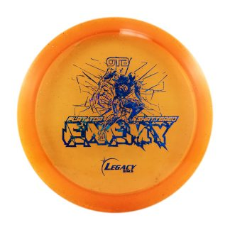 Legacy OTB Flat Top Shattered Enemy Orange with blue fracture stamp