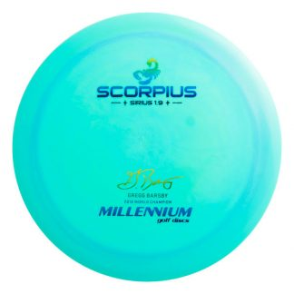 Millennium Gregg Barsby Scorpius 2018 World Champion teal with rainbow foil