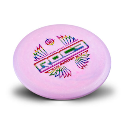Tour Series Roc3 - Glow Pink with Rainbow foil stamp