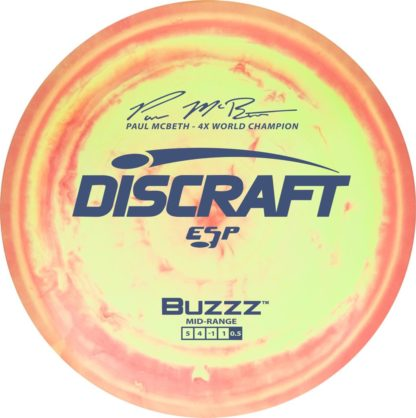 McBeth Buzzz Yellow/Orange Swirly Blue stamp