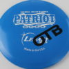 Patriot - blue - icon - white - black - 175g - 3311 - slight-dome-to-a-puddle-top-center - somewhat-gummy