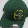 Flexfit Curved Bill Hat - Circle Chain Design - green - green - s-m - yellow - 3044 - 3045