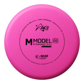 The ACE Line M Model OS by prodigy discs in pink BaseGrip Plastic.