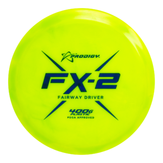 Prodigy FX-2 in Yellow 400g plastic with blue stamp.