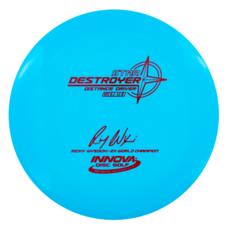 The 2x Wysocki Destroyer in blue star plastic with red stamp.