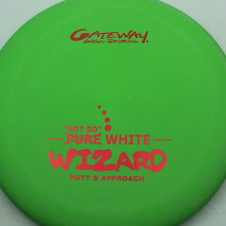 Gateway Not So Pure White Wizard in green plastic with red stamp on this colorful Wizard.