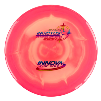 The Innova Invictus in swirly plastic with rainbow stamp.