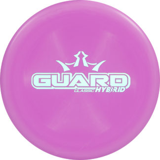 The Dynamic Discs Classic Hybrid Guard in pink plastic.