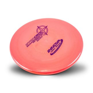 The Innova Croc in pink Star plastic with fuchsia stamp.