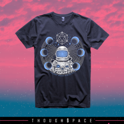 Thought Space Odyssey Shirt. Astronaut shirt.