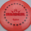 BioFuzion Raider - pinkorange - black - red-fracture - 174g - 175-6g - somewhat-domey - somewhat-stiff