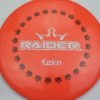 BioFuzion Raider - pinkorange - black - white - 174g - 175-5g - somewhat-domey - somewhat-stiff