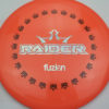 BioFuzion Raider - pinkorange - black - silver-fracture - 174g - 175-8g - somewhat-domey - somewhat-stiff