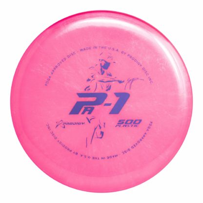 The Prodigy Discs Seppo Pa1 in 500 plastic in pink.