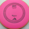 Envy - pink - light-orange - electron-firm - black - 304 - 1194 - 172g - 172-5g - slight-dome-to-a-puddle-top-center - pretty-stiff