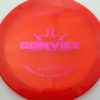 Convict - red - lucid - light-purple - 304 - 174g - 175-5g - somewhat-flat - somewhat-stiff