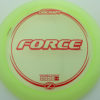 Force - light-yellow - z-line - red - 304 - 173-175g - 174-7g - neutral - somewhat-stiff