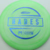 McBeth Hades - Stock ESP - blue-mini-dots-and-stars - 160-163g - 163-5g - somewhat-domey - somewhat-stiff