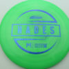 McBeth Hades - Stock ESP - blue-mini-dots-and-stars - 160-163g - 162-8g - somewhat-domey - somewhat-stiff