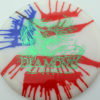 Diamond - tye-dye - opto - green - 158g - 159-8g - somewhat-domey - somewhat-gummy