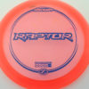 Raptor - pinkorange - z-line - dark-blue - 304 - 173-175g - 175-0g - somewhat-flat - pretty-stiff