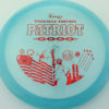 Patriot - blue - pinnacle - red-fracture - 304 - 175g - 177-1g - somewhat-flat - somewhat-stiff