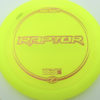 Raptor - yellow - z-line - bronze-ellipses - 304 - 173-175g - 174-9g - somewhat-flat - pretty-stiff