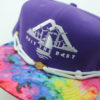 OTB Tie Dye Hat - Findlay - purple - white