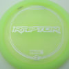 Raptor - light-green - z-line - silver-squares - 304 - 173-175g - 175-4g - pretty-flat - somewhat-stiff