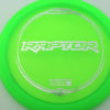 Raptor - green - z-line - wood-grain-silver - 304 - 173-175g - 174-6g - somewhat-flat - pretty-stiff