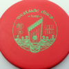 Harp - red - bt-medium - green - 174g - 174-3g - somewhat-puddle-top - somewhat-stiff