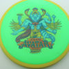 Avatar - green - yellow - star - full-color - 180g - 178-2g - somewhat-flat - somewhat-stiff
