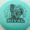 Glow Rival - Limited Edition - glow-blue - black - 175g - 174-8g - neutral - somewhat-stiff