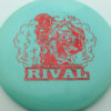 Glow Rival - Limited Edition - glow-blue - red-fracture - 175g - 176-6g - neutral - somewhat-stiff