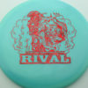 Glow Rival - Limited Edition - glow-blue - red-fracture - 175g - 176-1g - neutral - somewhat-stiff