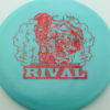 Glow Rival - Limited Edition - glow-blue - red-fracture - 175g - 176-2g - neutral - somewhat-stiff