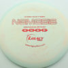 Nemesis - swirly - icon - red-fracture - 175g - 176-8g - somewhat-flat - somewhat-stiff