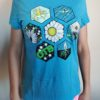 Honeycomb Home Shirts - Paige Pierce & Pirate Nate Collaboration - turquoise-frost - xs-womens