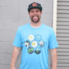Honeycomb Home Shirts - Paige Pierce & Pirate Nate Collaboration - turquoise-frost - xs-mens
