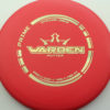 Warden - red - prime - gold - 176g - 175-9g - pretty-flat - somewhat-stiff