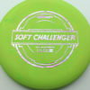 Soft Challenger - green - putter-line-soft - silver-w-pink-purple-streaks - 173-175g - 173-7g - puddle-top - somewhat-gummy