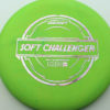 Soft Challenger - green - putter-line-soft - silver-w-pink-purple-streaks - 173-175g - 173-8g - somewhat-puddle-top - somewhat-gummy